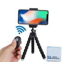 """Acuvar 6.5"""" Flexible Tripod with Universal Mount for All iPhones, Samsung phones and Many Other Smartphones with Bluetooth Remote Shutter"""
