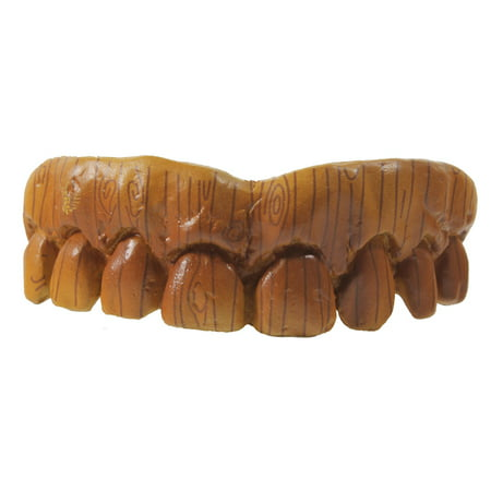 WOODEN COSTUME TEETH - Billy Bob Acrylic - HALLOWEEN - Costume Fake Teeth