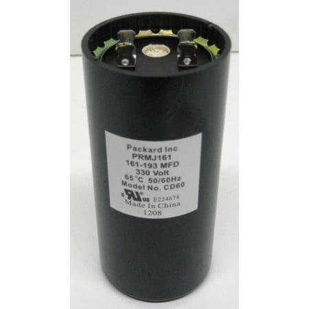 Packard PRMJ161 Motor Start Capacitor. 161-193 MFD UF / 330 VAC