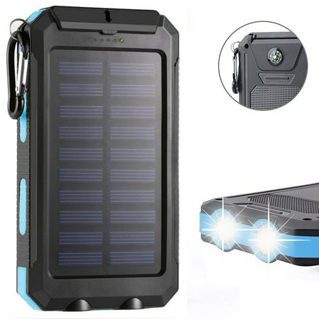 Waterproof 300000mAh 2 USB Portable Solar Battery Solar