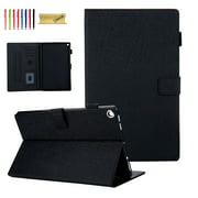 Kindle Fire HD 10 Case, Dteck PU Leather Magnetic Flip Folio Stand Case Cover Built-in Card Slots For Amazon Fire HD 10 (7th Generation 2017/5th Generation 2015), Multiple angles viewing, Black