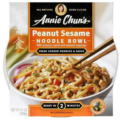 Annie Chun's Peanut Sesame Mild Noodle Bowl, 9.1 oz (Pack of 6)