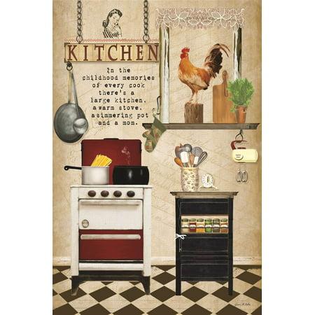 Kitchen Story Beige Wall Plaque