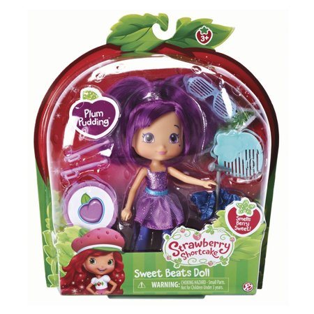 , Strawberry Shortcake, Sweet Beats, Plum Pudding Doll, 6 Inches, Includes scented Plum Pudding doll By The Bridge Direct - Plum From Strawberry Shortcake
