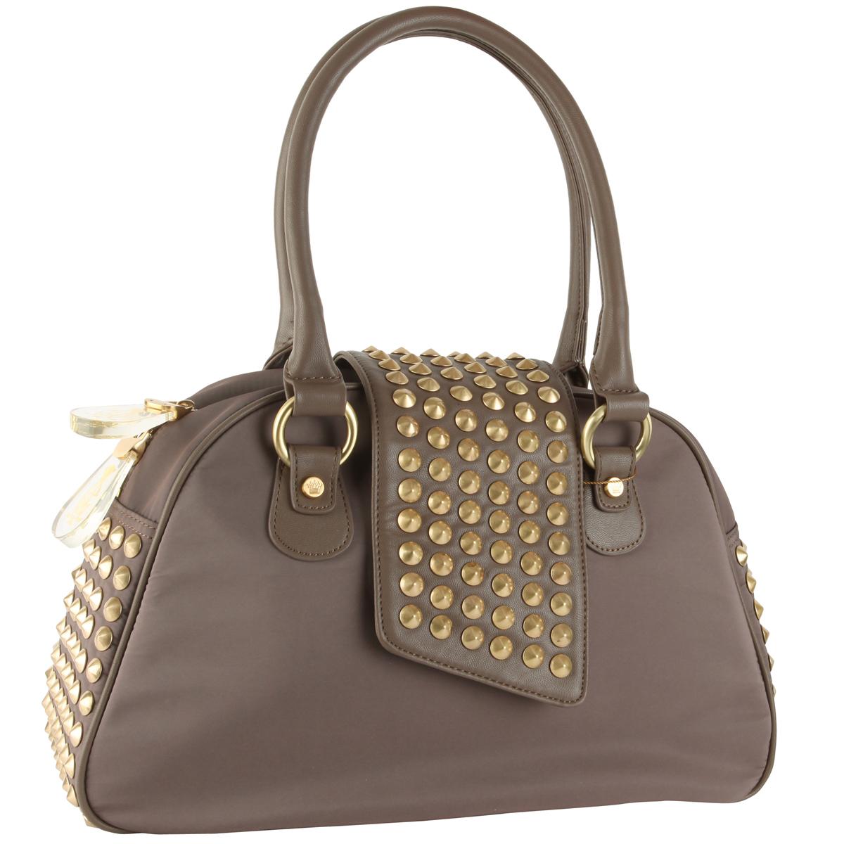 Christian Audigier Gwen Bowler Handbag - Taupe