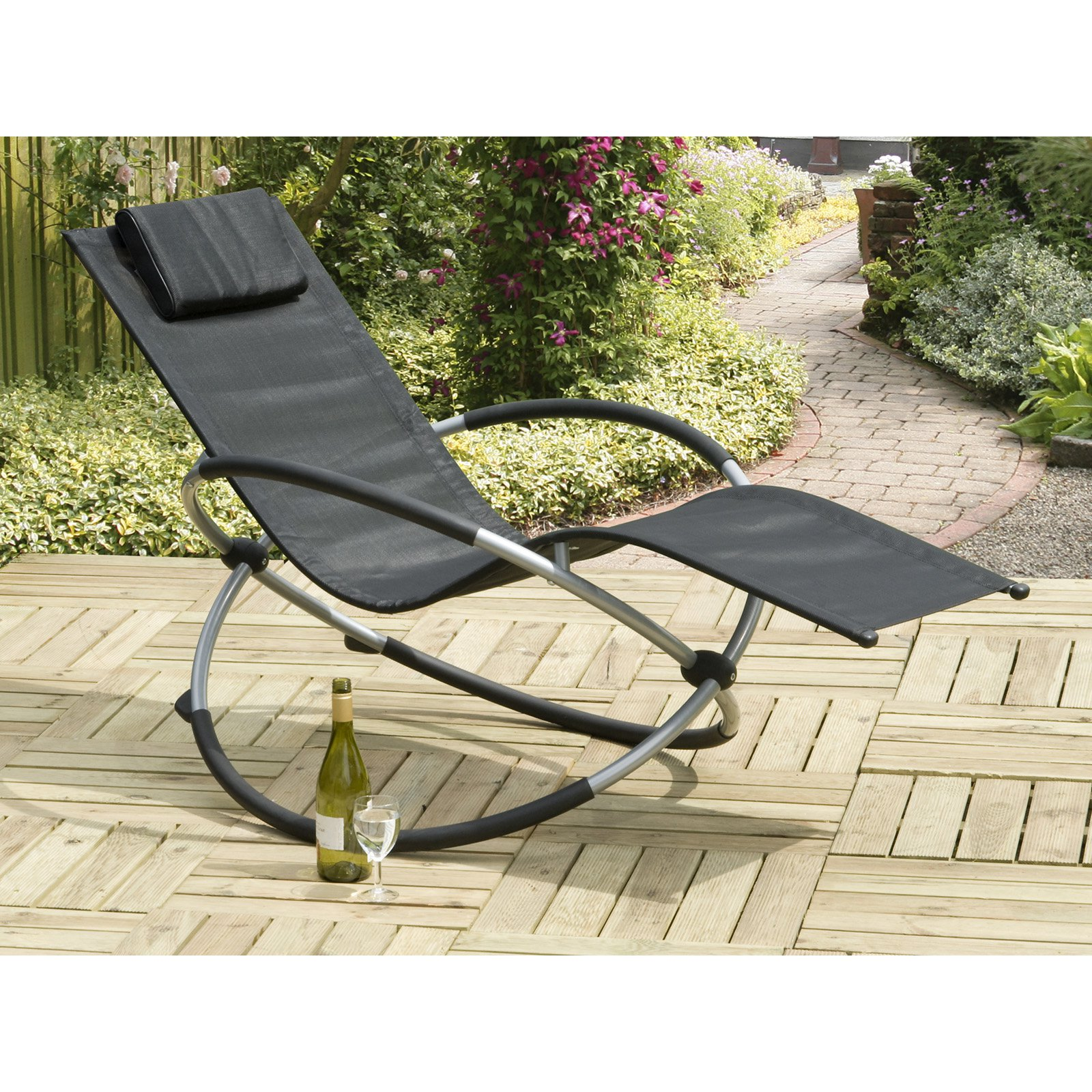 Orbit Relaxer Black Rocking Steel Chair