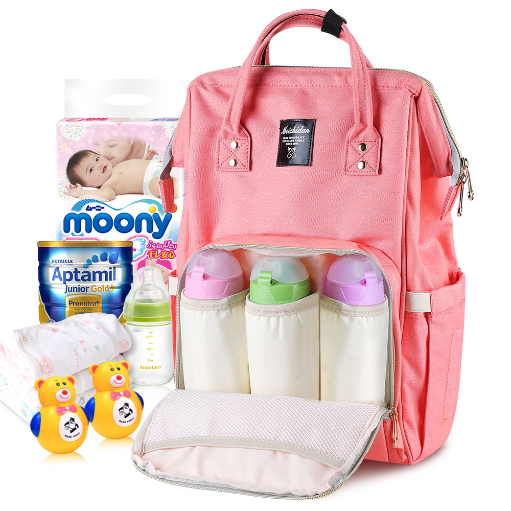 Mummy Maternity Nappy Diaper Bag Large Capacity Travel Baby, Pink
