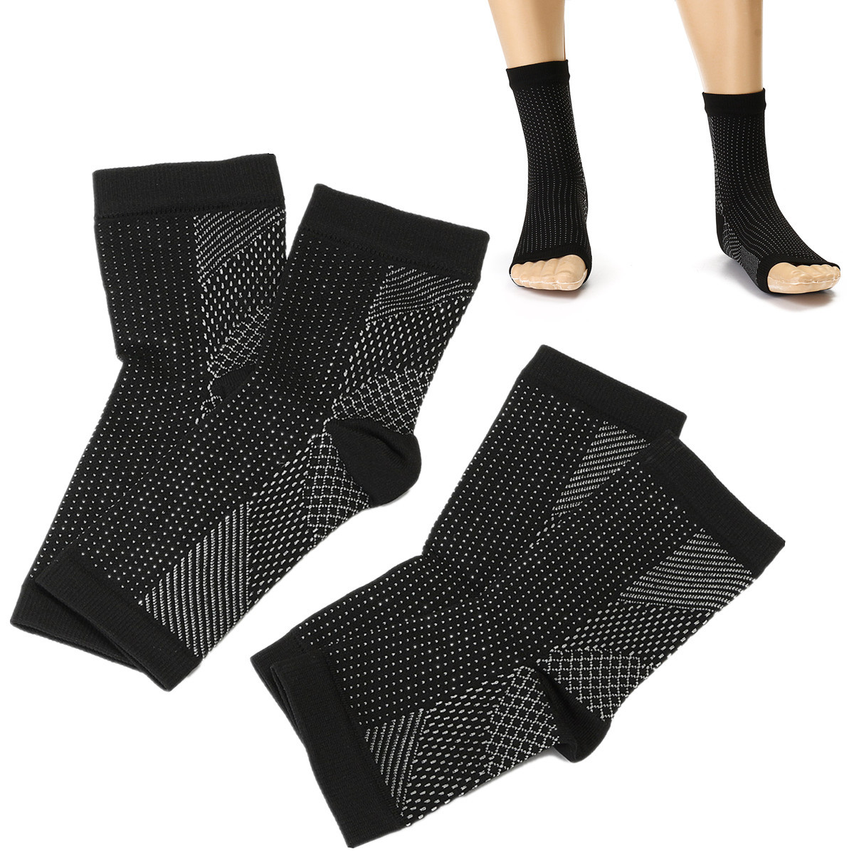 1 Pair Unisex Plantar Fasciitis Compression Socks Foot Ankle Sleeve Anti Fatigue Swelling Relief Socks Health Women & Men Warmer S/M/L/XL