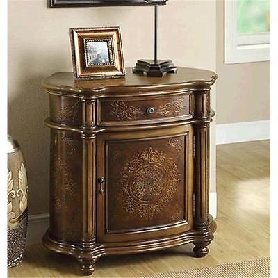 BrandNew Monarch Specialties I 3825 Light Brown Traditional One Drawer Bombay Cabinet Furniture GSS180193302 by GSS