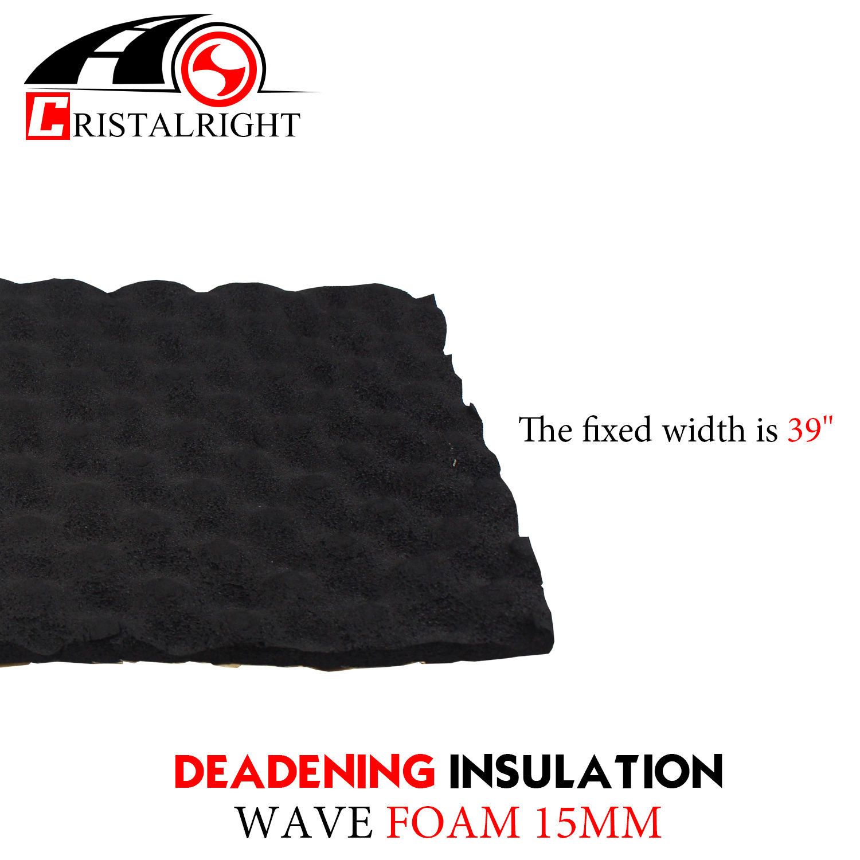 "15mm Thickness Heat Proof Mat Black Adhesive For Noise Shield Proofing Proof Barrier Aluminum Foam Trunk Floor Mat Firewall Doors (25""x40)"