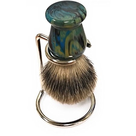 Blue Arctic Badger Shaving Brush - 21mm knot - Comes with Free Stand Badger Brush Stand