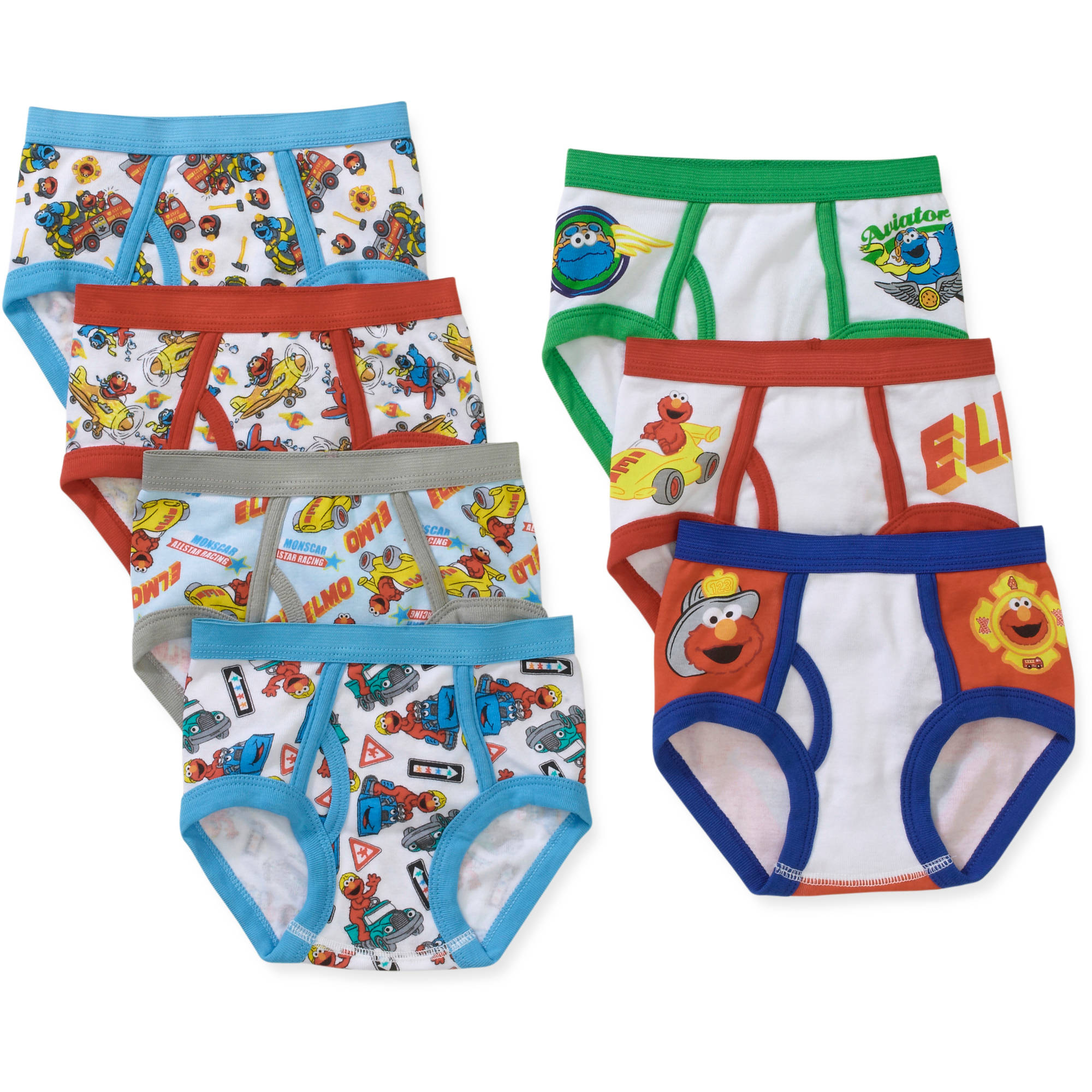Sesame Street Toddler Boys Underwear, 7 Pack