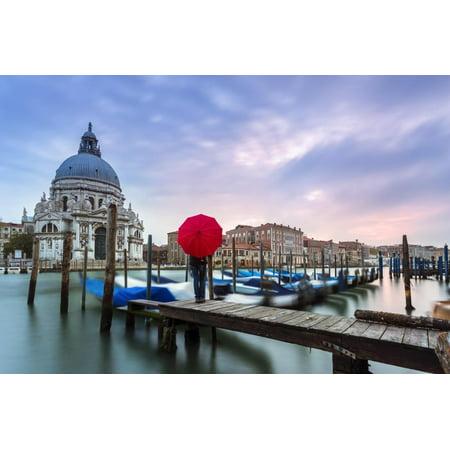 Italy, Veneto, Venice. Santa Maria Della Salute Church on the Grand Canal, at Sunset Print Wall Art By Matteo (Colombo Grand)