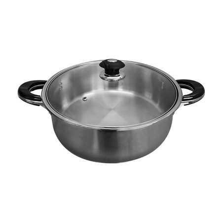 High Quality Stainless Steel 15'' Low Pot Cookware 16 Qt Pots Pan Cooking