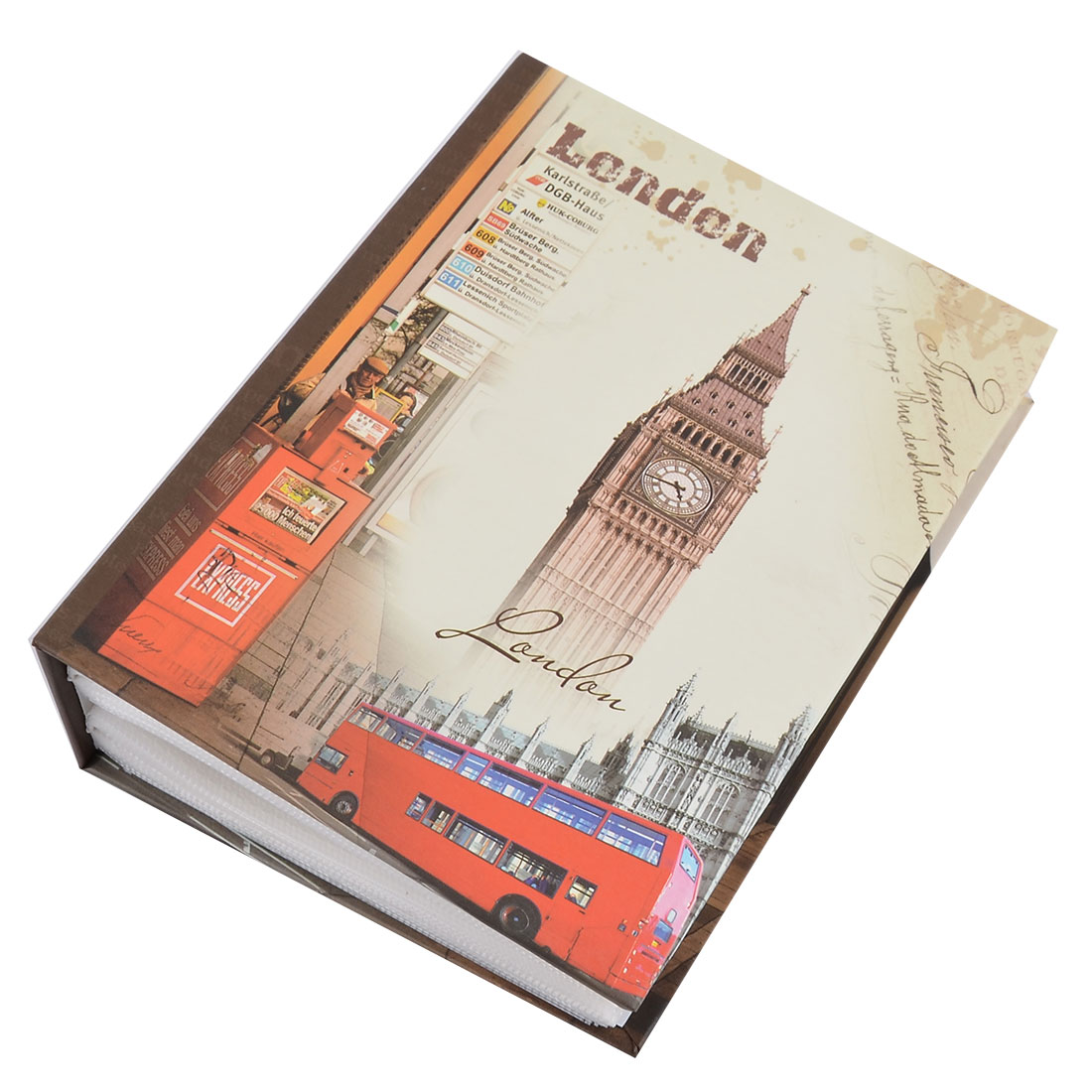 Unique BargainsHousehold Cardboard Big Ben Pattern DIY Picture Collection Holder Photo Album