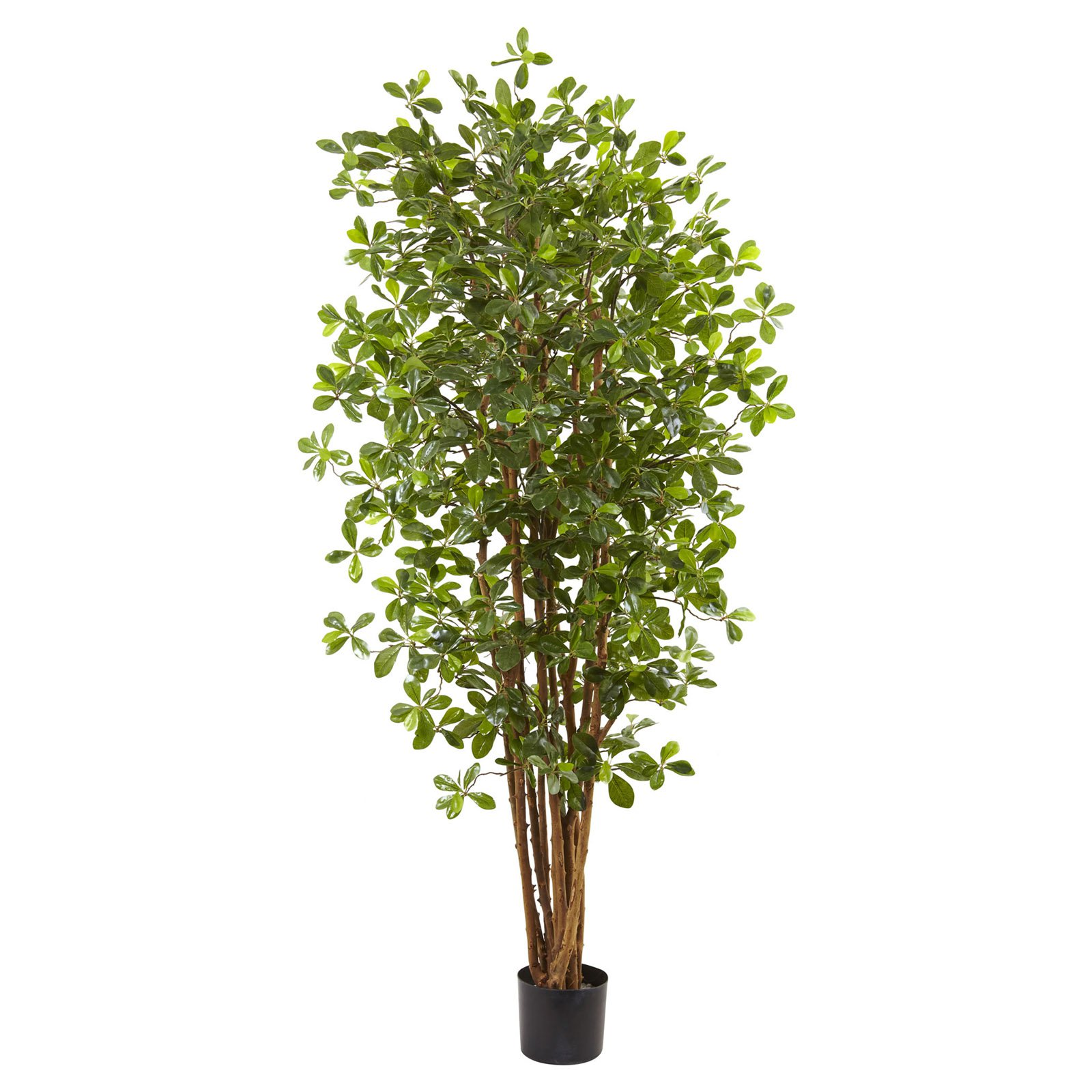 Nearly Natural 6 ft. Black Olive Silk Tree