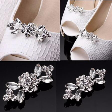2pcs Crystal Crystal High Heel Shoe Charming Clips Rhinestone Wedding Diamante - image 7 of 7