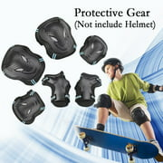 CoastaCloud Kid's Childrens Adults Teens 6PCS Wrist Elbow Knee Pads Safety Skateboard Gear Guard Inline Skating Roller Cycling Blading for Bicycle, Skateboard, Scooter