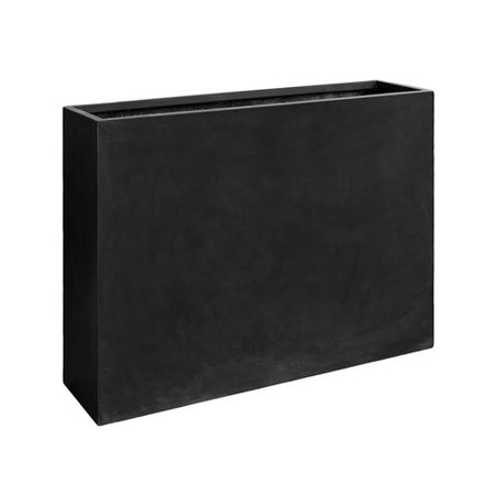 Pottery Pots Basic Luxurious Black Rectangular Planter Box Walmart Com