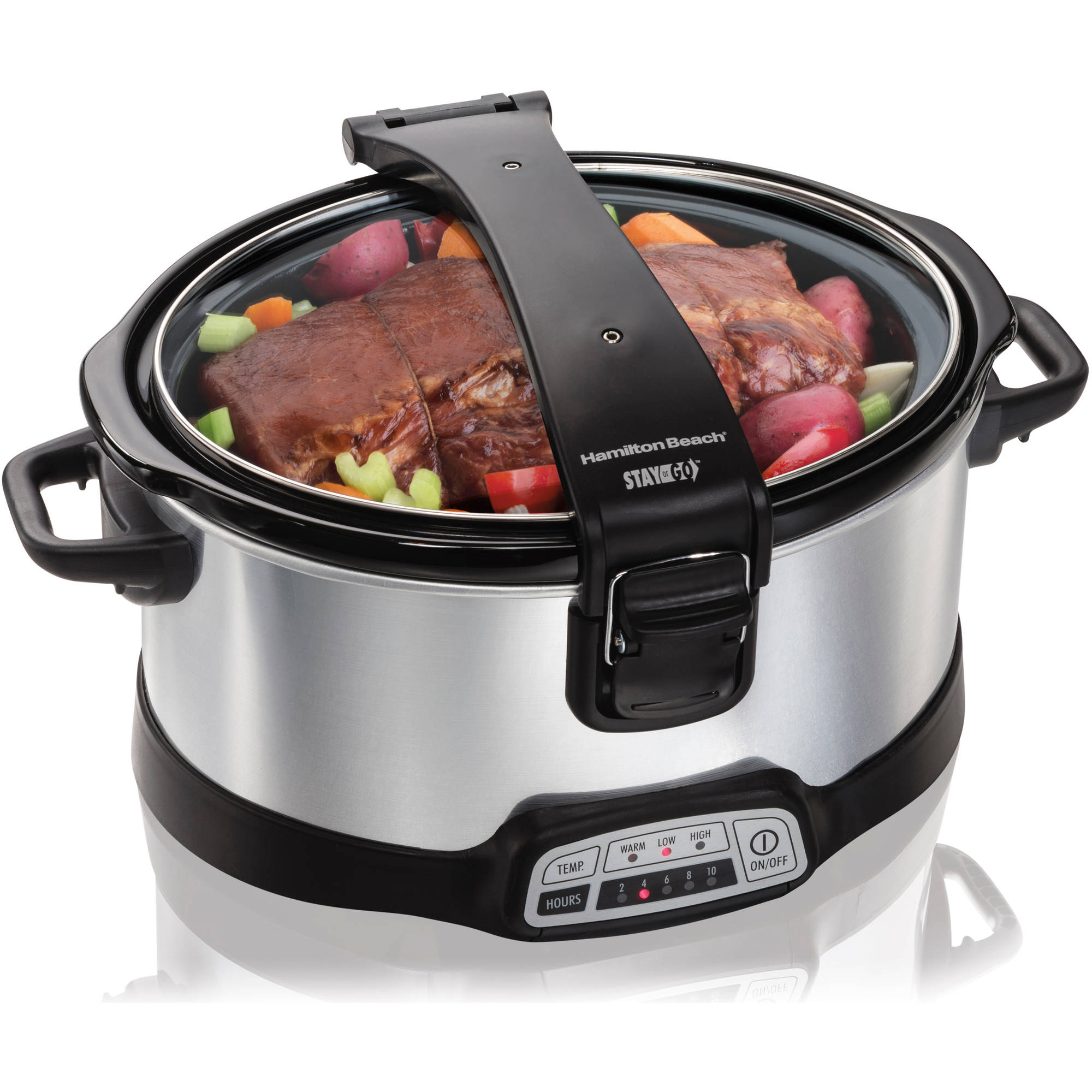Hamilton Beach 6 Quart Stay or Go Programmable Slow Cooker | Model# 33467