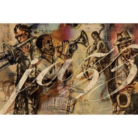 "Canvas Wall Art Jazz Music, 21.5"" x 32.5"""