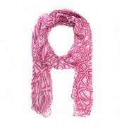 Icon Bijoux Co-Cmf3315-Pink Audrey Pink Scarf