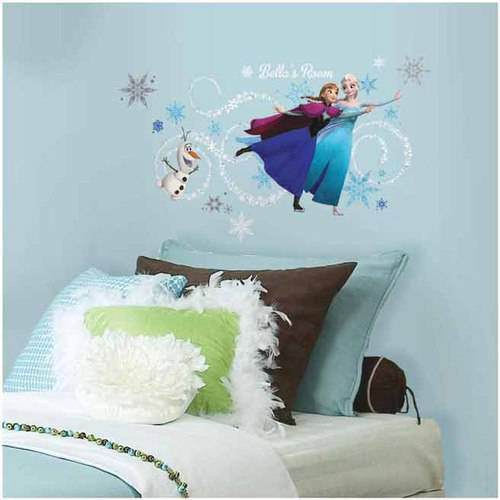 Frozen Custom Headboard Featuring Elsa, Anna and Olaf Peel and Stick Giant Wall Decals by Disney Frozen