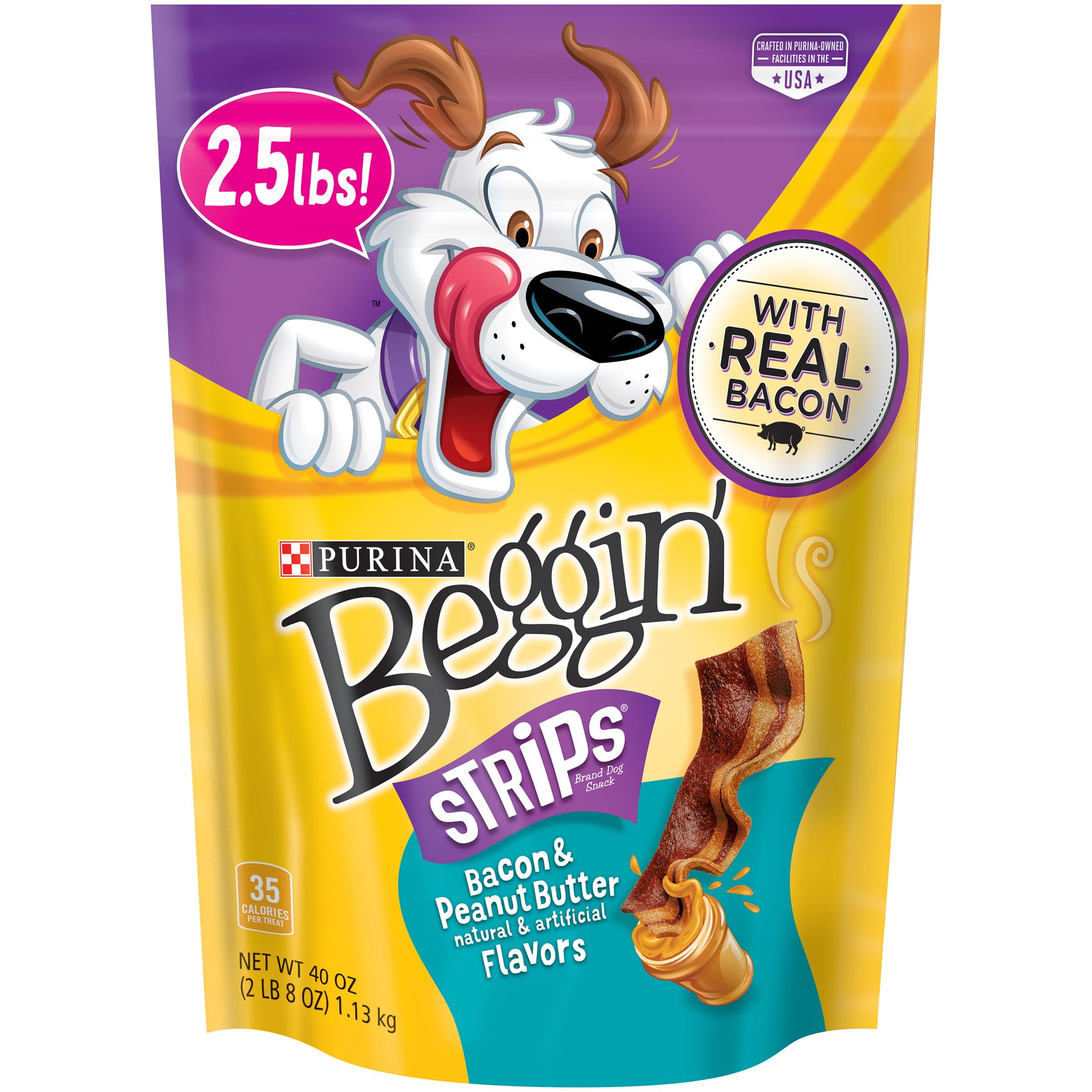Purina Beggin Strips Bacon & Peanut Butter Flavors Dog Treats, 40 Oz. by Nestle Purina Petcare