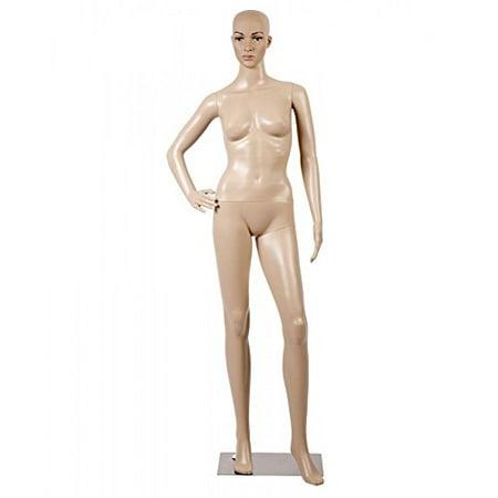 Female Full Body Realistic Mannequin Display Head Turns Dress Form w/Base F61
