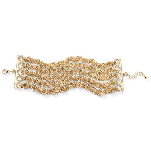 Palm Beach Jewelry Multi-Chain Crystal Bracelet