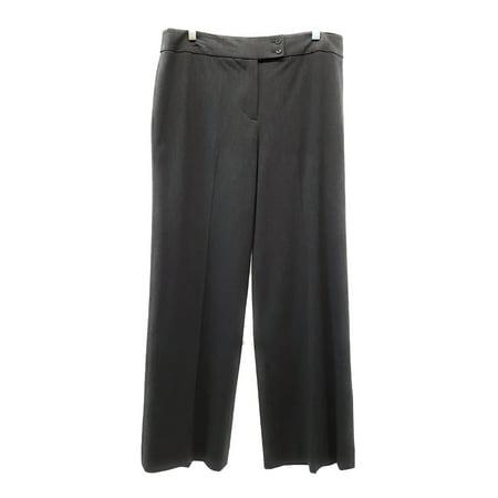 Jones New York Signature Wide Leg Stretch Trouser Pants, Heather Gray, 12 ()