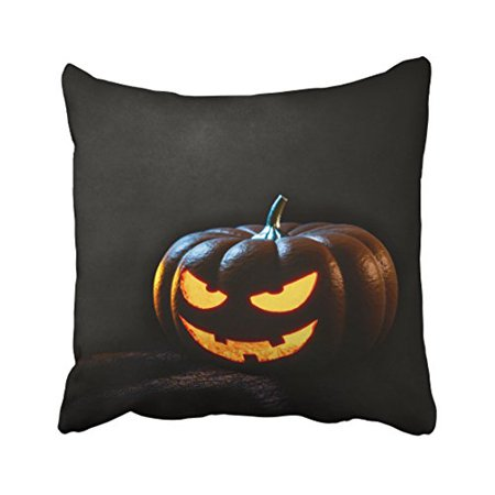 WinHome Decorative Pillowcases Halloween Pumpkin Lantern Spooky Outdoor Throw Pillow Covers Cases Cushion Cover Case Sofa 20x20 Inches Two Side - Spooky Halloween Pumpkin Patterns