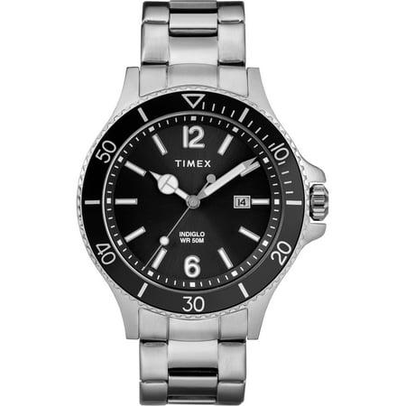Men's Harborside Silver-Tone/Black Watch, Stainless Steel Bracelet - Watch Halloween 2 Online
