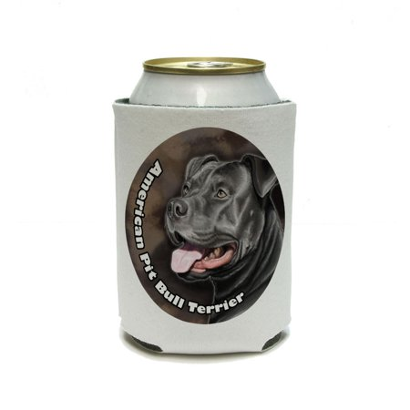 American Pit Bull Terrier - Pitbull Blue Nose Dog Pet Can Cooler Drink Insulator Beverage Insulated Holder ()