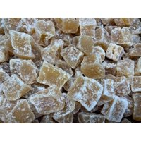Premium Fiji Crystallized Candied Ginger 15-22mm Mixed Diced Chunks  (1 LB)