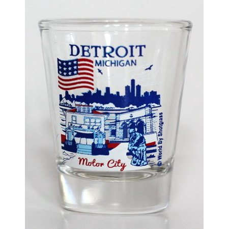 Detroit Michigan Great American Cities Collection Shot Glass