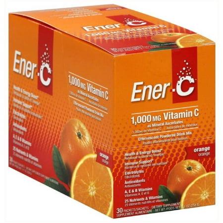 effervescente en poudre Mélange de boisson la vitamine C 1000 mg Orange CT 30