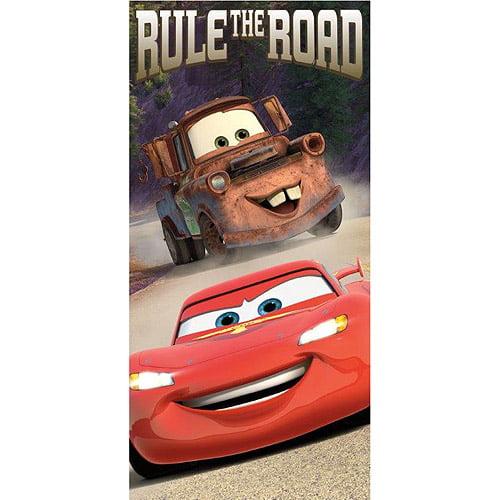 Disney Cars Rule the Road Beach Towel, Tan