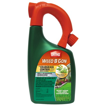 Ortho Weed B Gon MAX Plus Crabgrass Control Weed Killer for Lawns Ready-To-Spray, 32 -