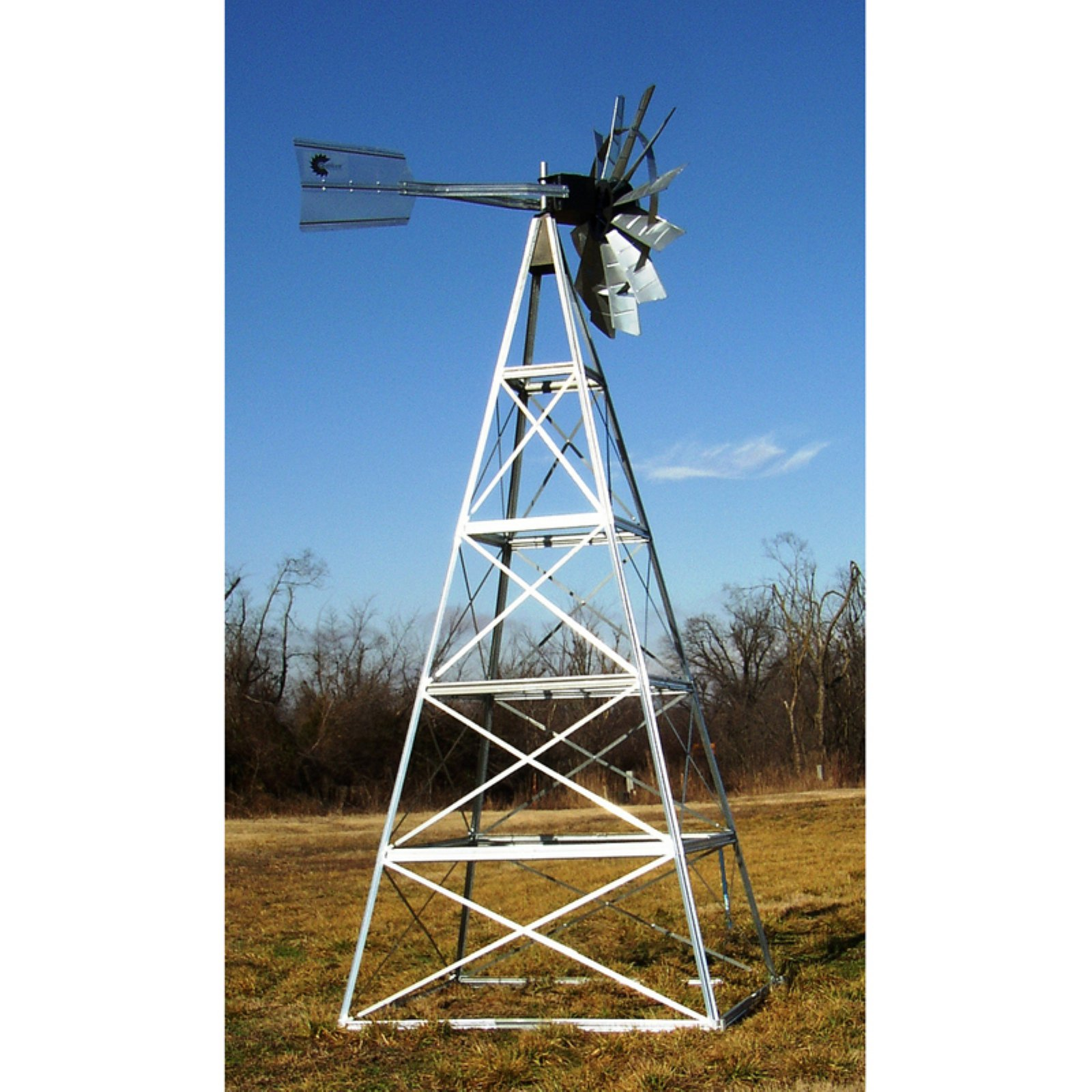 Deluxe 20 ft. Customized Powder Coated Steel Underwater Aeration Windmills by Windmills