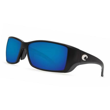 b9985e04ddd Costa Del Mar - Costa Del Mar Blackfin BL 11GF Matte Black Global Fit  Sunglasses Blue Lens 580G - Walmart.com