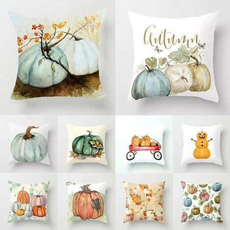 Halloween Cover Pics (Pumpkin Halloween Pillows Cover Fall Decor Pillow Case Sofa Throw Cushion)