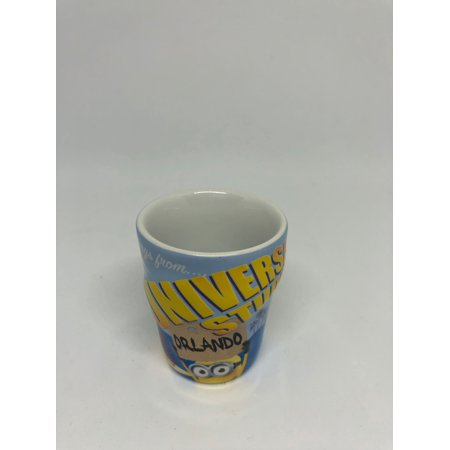 Universal Studios Orlando Despicable Me Approved Minion Mail Shot Glass (Best App For Universal Studios Orlando)