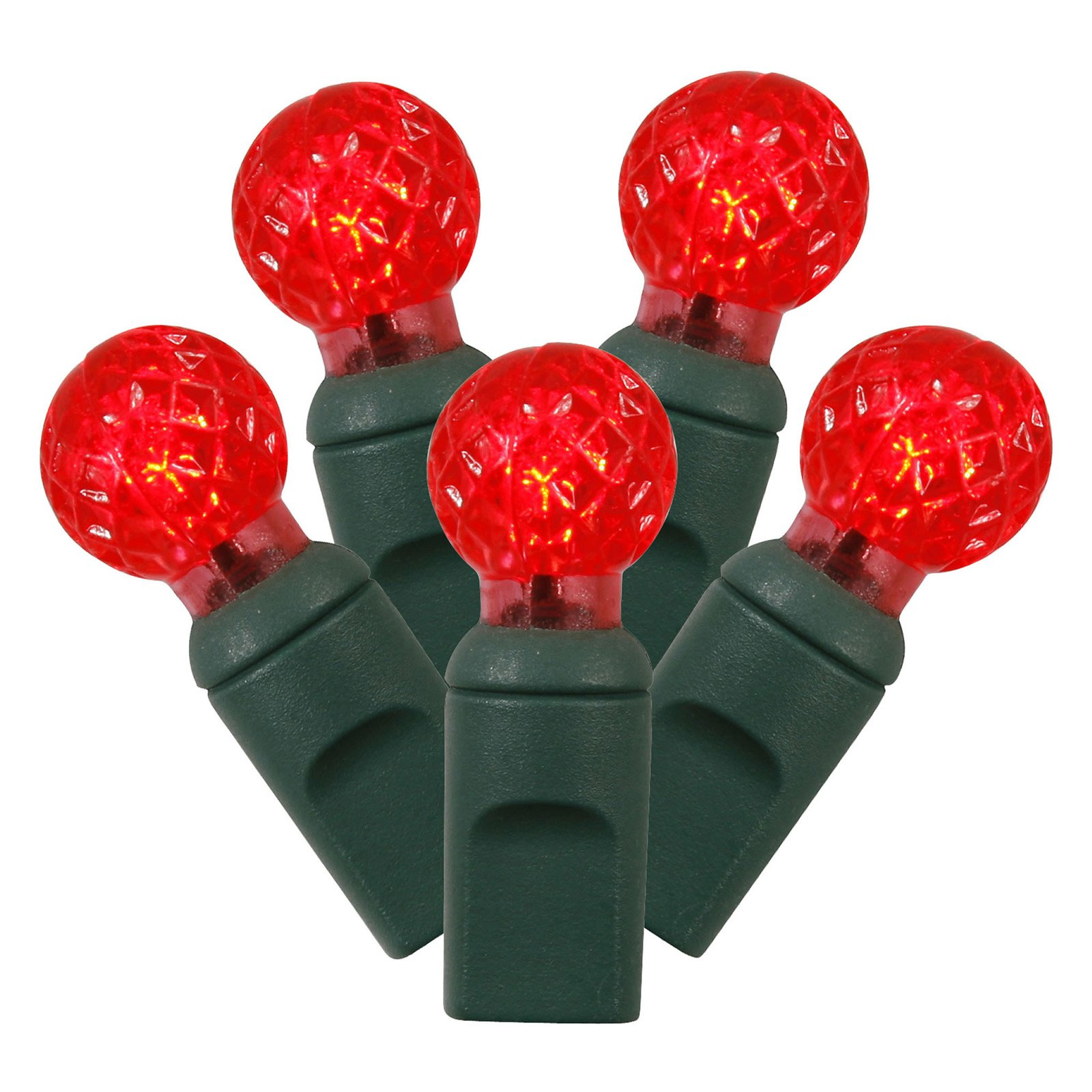 Vickerman 50 ct. Red G12 LED Lights with Green Wire - Set of 2