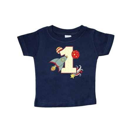 1st Birthday Outer Space Theme Baby T-Shirt (Outer Space Birthday)