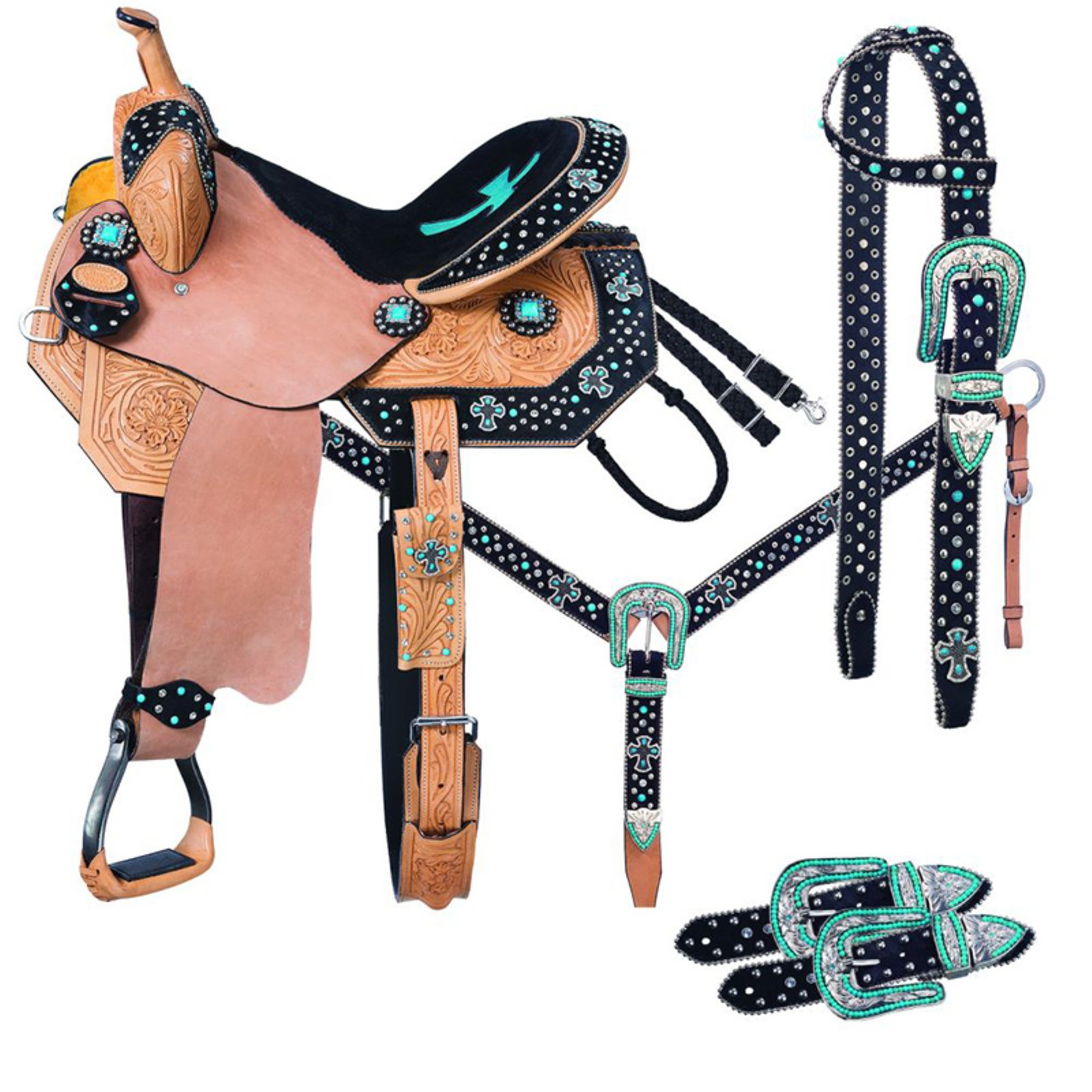 Cheyenne Barrel 5 Piece Horse Saddle Package