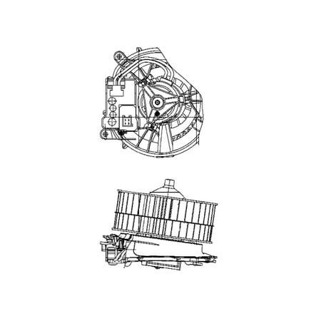 Hella Behr 009159211 HVAC Blower Motor for Mercedes-Benz