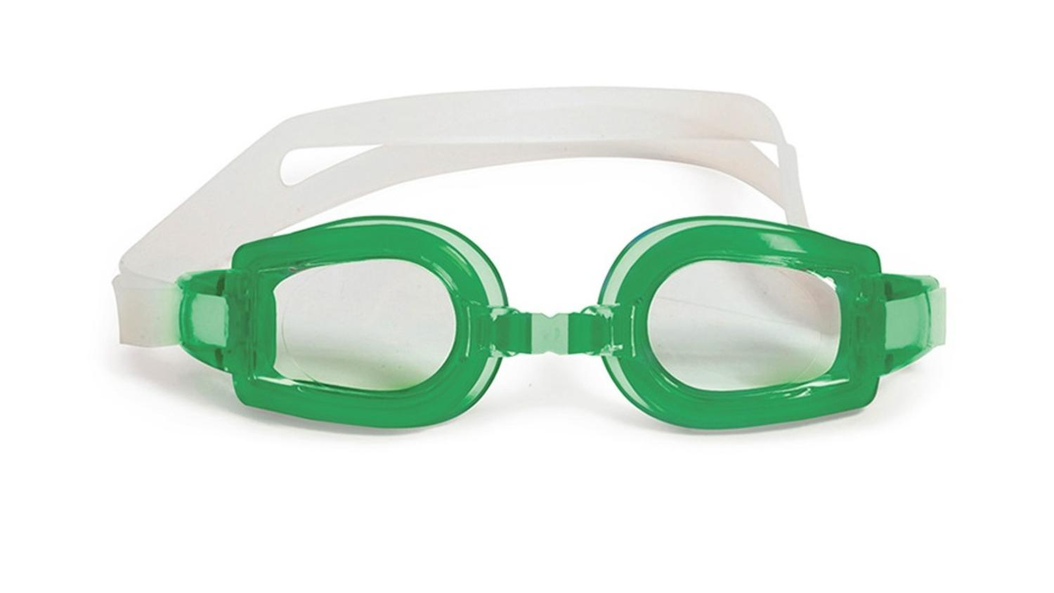 """6.25"""" Vantage Competition Green Goggles Swimming Pool Accessory for Children, Juniors and Teens by Swim Central"""