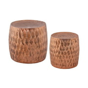 ELK Lighting Djembe 2 Piece Iron Stool Set