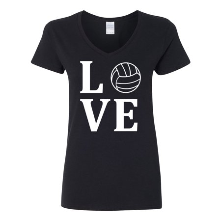Love Volleyball Womens V Neck Country Love Green Jersey